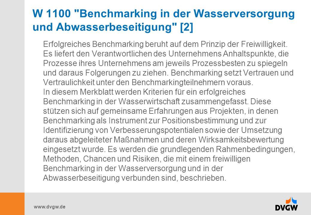 W 1100 Benchmarking in der Wasserversorgung und Abwasserbeseitigung [2]